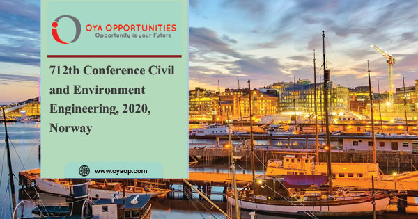 712th Conference Civil and Environment Engineering, 2020, Norway