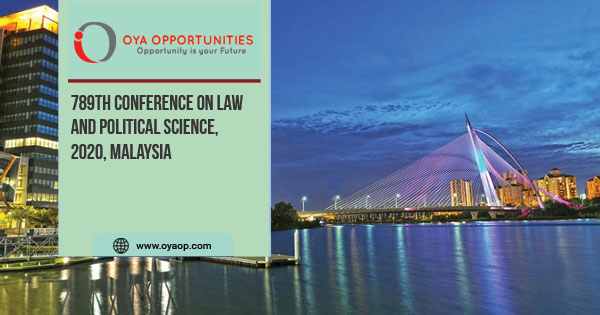 789th Conference on Law and Political Science, 2020, Malaysia