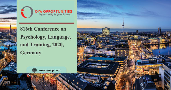 816th Conference on Psychology, Language, and Training, 2020, Germany