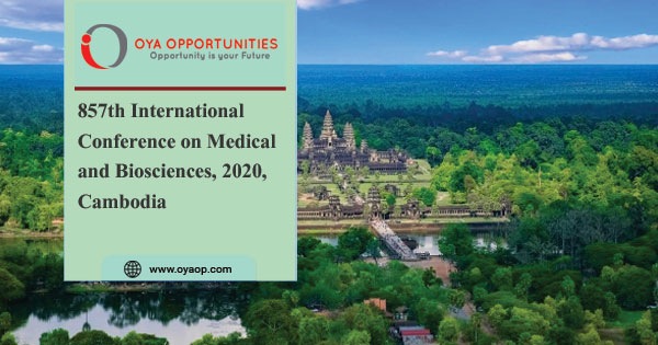 857th Conference on Medical and Biosciences, 2020, Cambodia