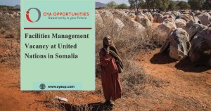 Facilities Management Vacancy at United Nations in Somalia