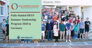 Fully-funded DESY Summer Studentship Program 2020 in Germany