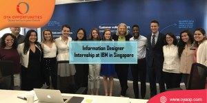 Information Designer Internship at IBM in Singapore