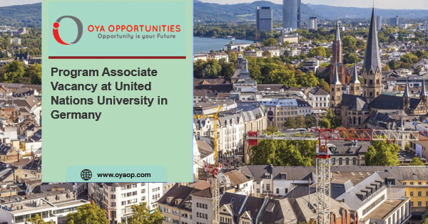 Program Associate Vacancy at United Nations University in Germany