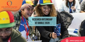 Research Internship at Google 2020