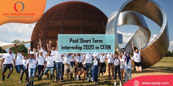 Short Term Internship 2020 in CERN (Paid Position)
