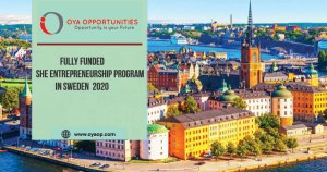 Fully Funded She Entrepreneurship Program In Sweden