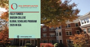 Fully Funded Babson College Global Scholars Program 2020 in USA