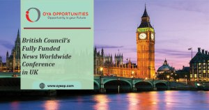 Fully Funded) British Council's Future News Worldwide Conference 2020 in London
