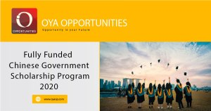 Chinese Government Scholarships Program 2020