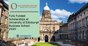 Fully Funded Scholarships at University of Edinburgh Business School 2020