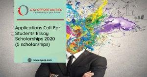 Students Essay Scholarships 2020