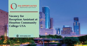 Vacancy for Reception Assistant at Houston Community College