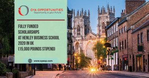 Call for scholarships at Henley Business school