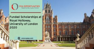 Funded scholarships at Royal Holloway