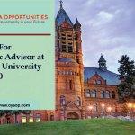 Vacancy For Academic Advisor at Syracuse University in United States