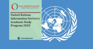 United Nations Information Service's Graduate Study Program 2020