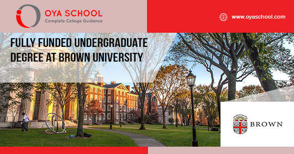 Fully Funded Undergraduate Degree at Brown University