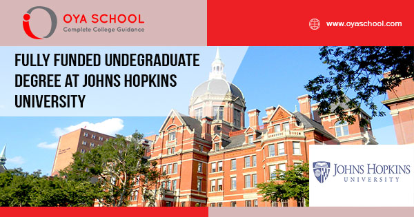 Fully Funded Undergraduate Degree at Johns Hopkins University