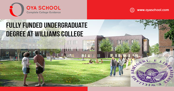 Fully Funded Undergraduate Degree at Williams College
