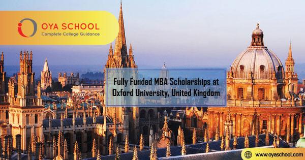 Fully Funded MBA Scholarships at Oxford University