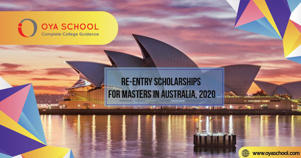 Re-Entry Scholarship for Masters in Australia, 2020