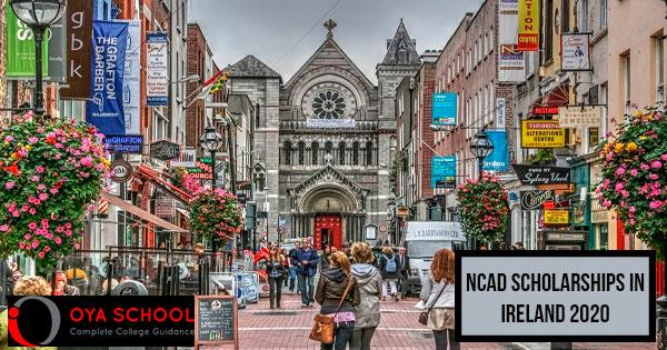 NCAD Scholarships in Ireland 2020