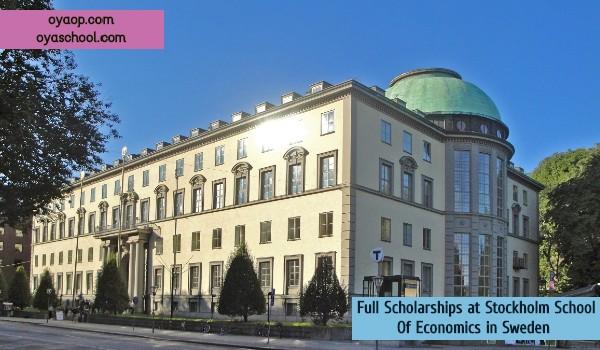 Full Scholarships at Stockholm School Of Economics in Sweden