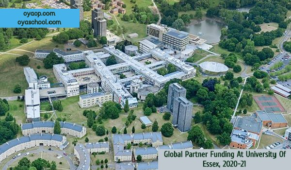 Global Partner Funding At University Of Essex, 2020-21