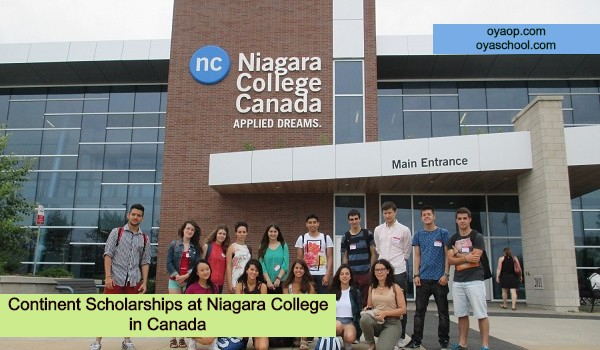 Continent Scholarships at Niagara College in Canada