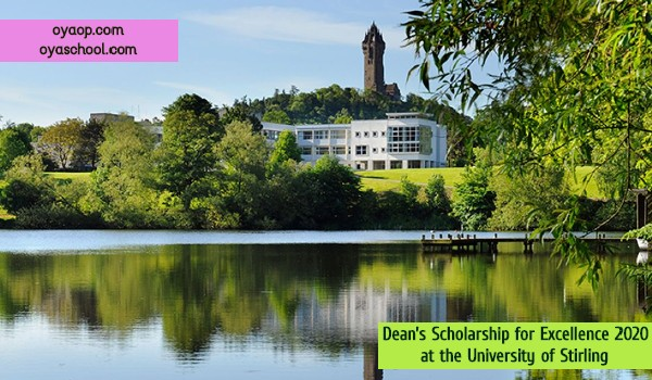 Dean's Scholarship for Excellence 2020 at the University of Stirling