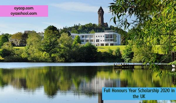 Full Honours Year Scholarship 2020 in the UK