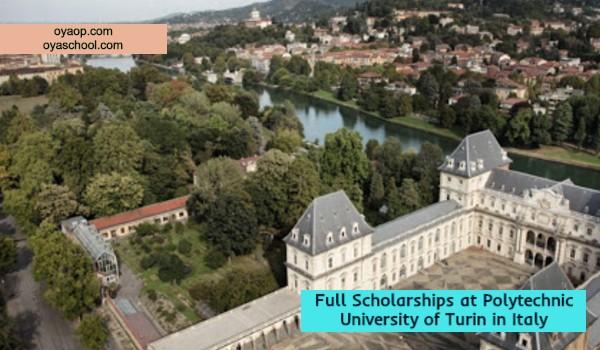 Full Scholarships at Polytechnic University of Turin in Italy
