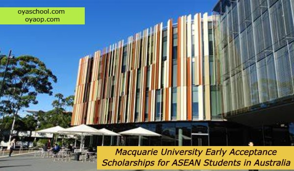 Macquarie University Early Acceptance Scholarships for ASEAN Students in Australia