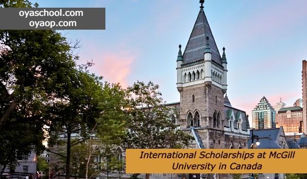 International Scholarships at McGill University in Canada