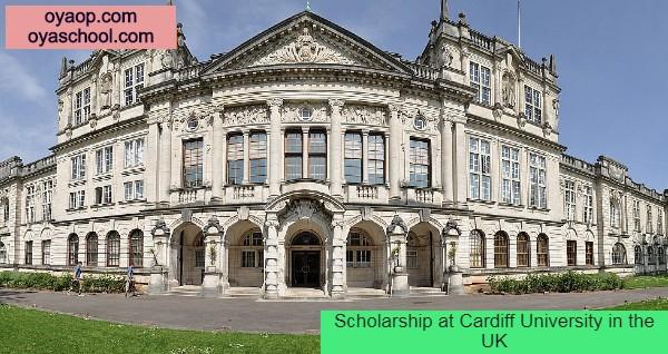 Scholarship at Cardiff University in the UK