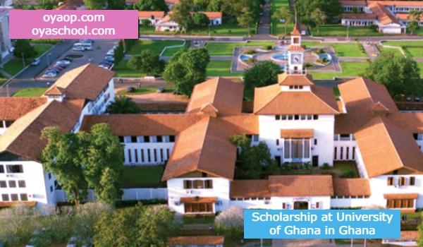 Scholarship at University of Ghana in Ghana