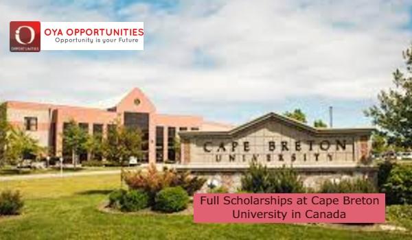 Full Scholarships at Cape Breton University in Canada