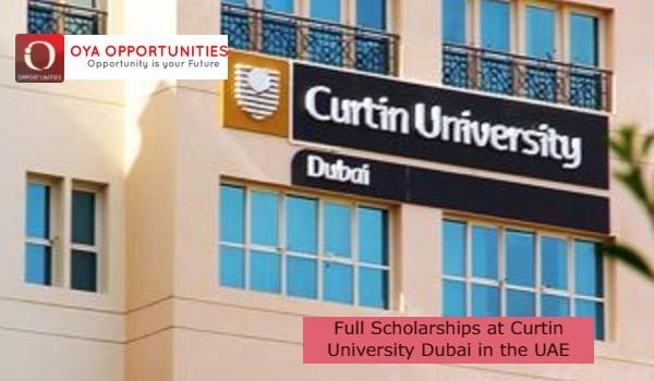 Full Scholarships at Curtin University Dubai in the UAE