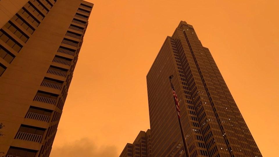 San Francisco humo niebla naranja incendios