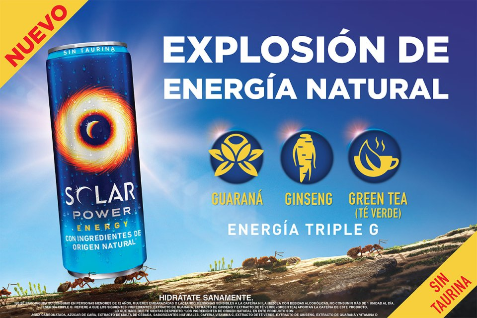 Solar Power, bebida energética