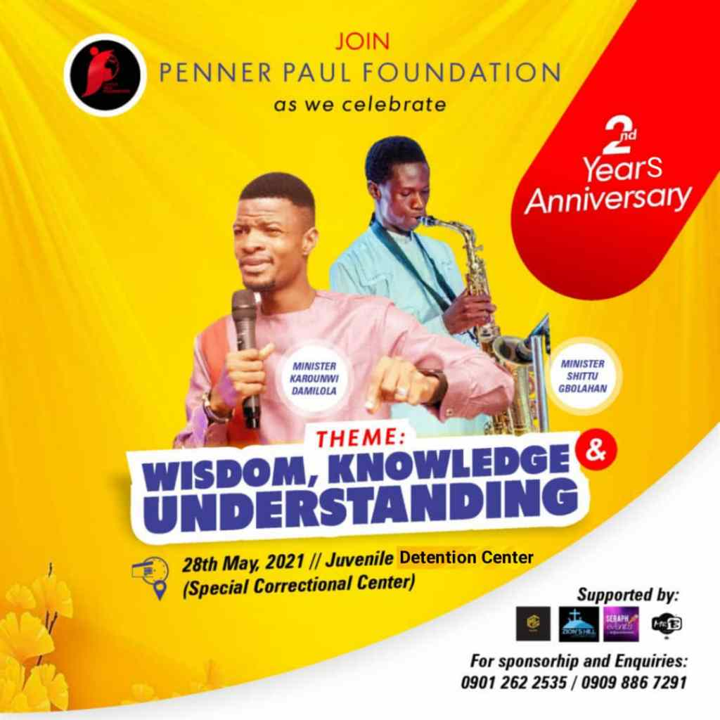 Penner Paul Foundation [PPF] Set To Celebrate It 2nd Year Anniversary