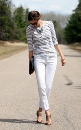 white jeans and stripes look 2
