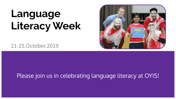 Language Literacy Week 2019