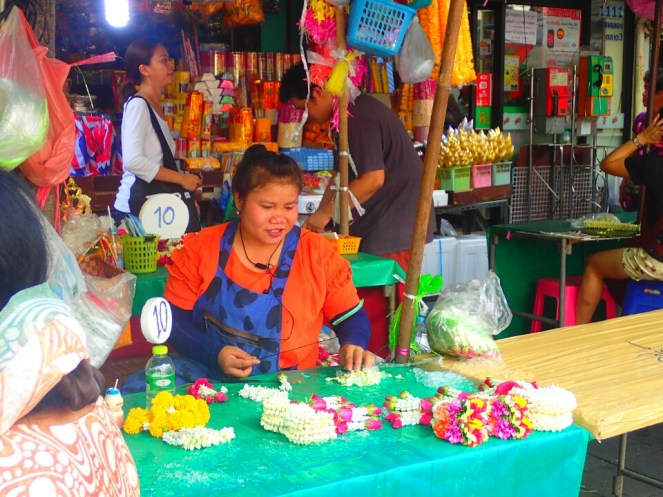 Bangkok : Marché au fleurs : Flowers market
