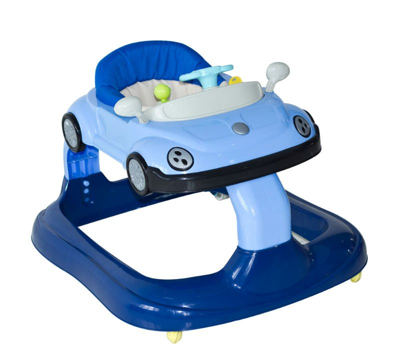 Baby Car Activity Walker Blue c/w Toys and Play Tray