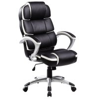 Luxury Designer Computer Office Chair - Black with White ...