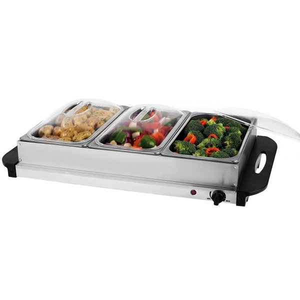 Stainless Steel Electric 3 Pan Buffet Food Warmer Hot