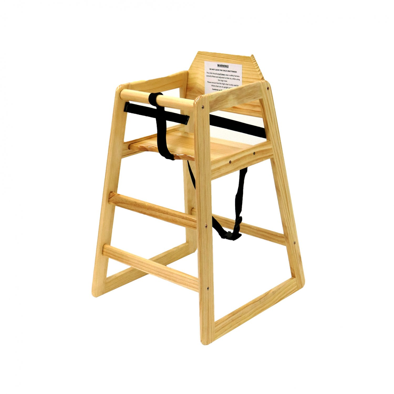 High Chairs Kids Wooden High Chair Natural 24 99 Oypla