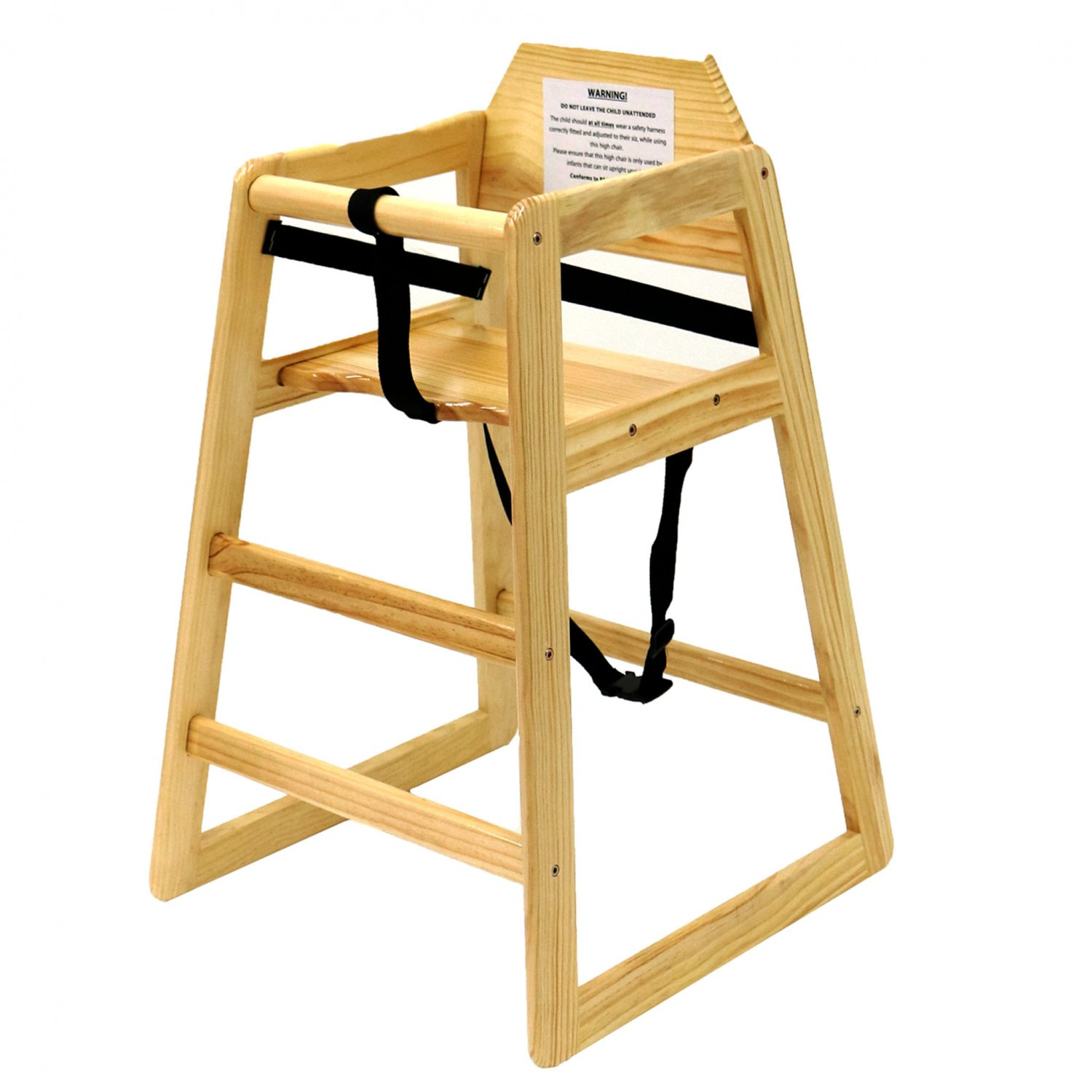 Kids Wooden High Chair  Natural  2499  Oypla